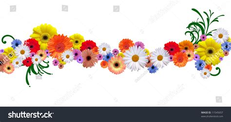 Line Flower flower line for border and frame different version in my