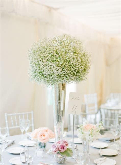 tall baby s breath centerpieces