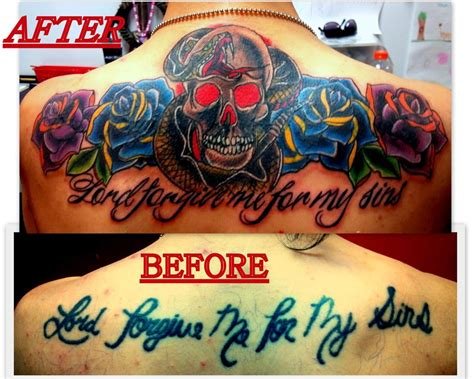 cover up tattoos before and after cover up before and after by tattoos