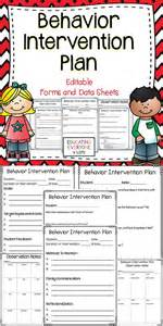 Sle Behavior Intervention Plan Template by Behavior Intervention Plan Editable Forms And Data Sheets