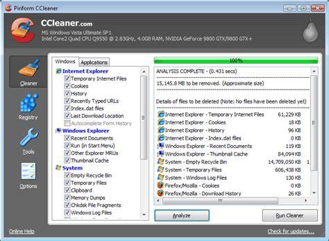 ccleaner là gì limpieza profunda del sistema operativo taringa