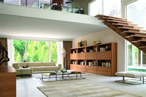 modern stairs design in living room room decorating