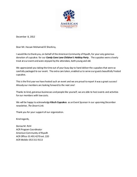 Support Event Letter sle thank you letter for hosting a business event