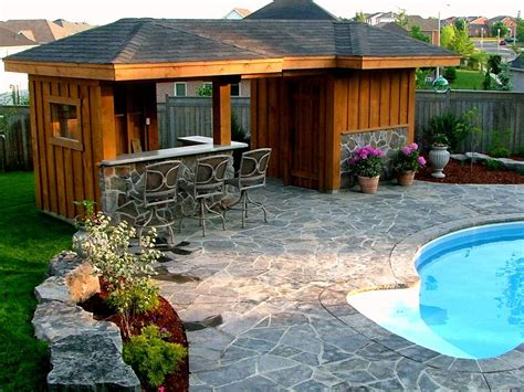 pool shed garage and shed with