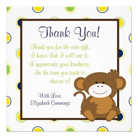 thank you note template baby shower baby shower gift thank you wording sles baby shower ideas