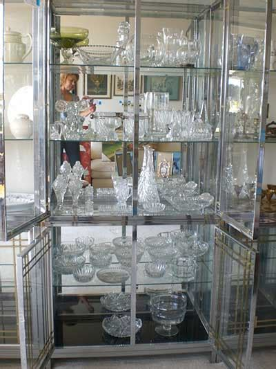how to display crystal in china cabinet estate sale crystal displayed on a it s accomplished