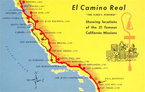 california map with missions a trail map of some of the amazing missions across