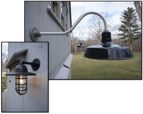 Exterior Barn Lights by Copper Gooseneck Lighting For 1920s Craftsman Style Home A