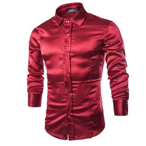 high grade emulation silk sleeve shirts s casual