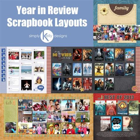 scrapbook yearbook layout 17 best images about year in review on pinterest