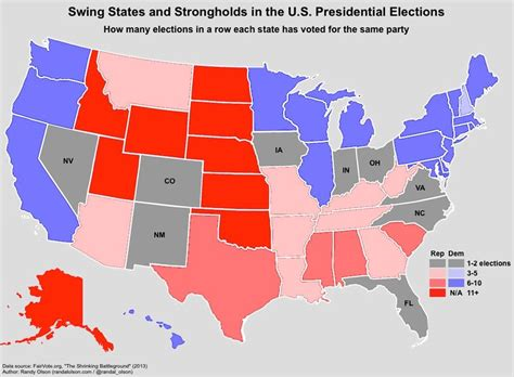 map of swing states are swing states disappearing realclearpolitics
