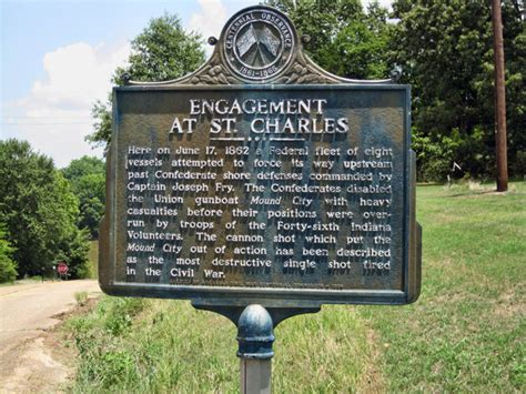 engagement at st charles marker encyclopedia of arkansas