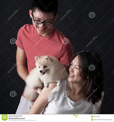 bonding with puppy owners bonding with pet stock photo image 34312850