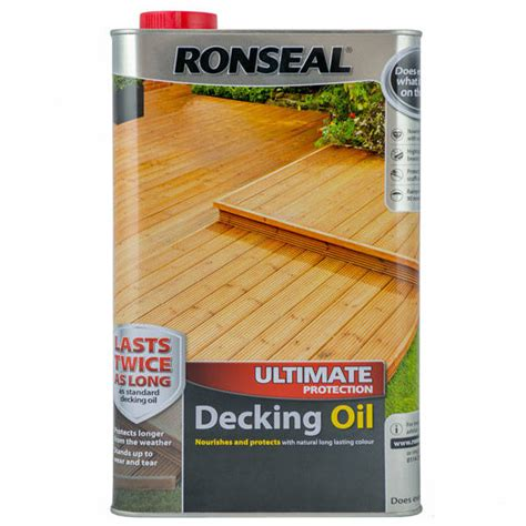 ronseal ultimate protection decking oil perfect finish