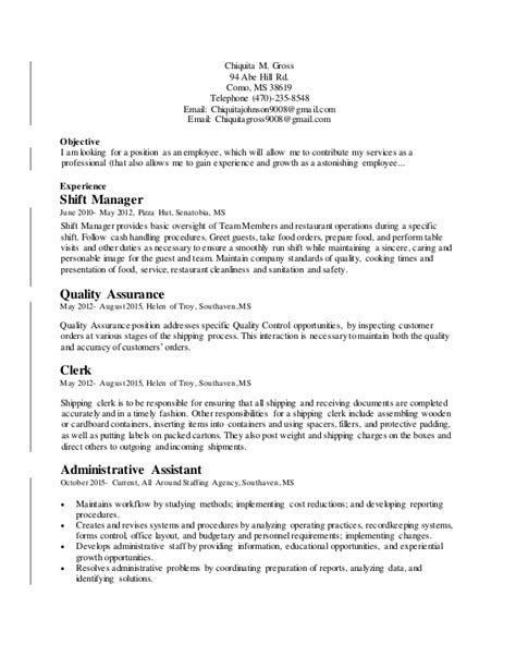 strong work ethic cover letter chiquita gross cover letter and resume