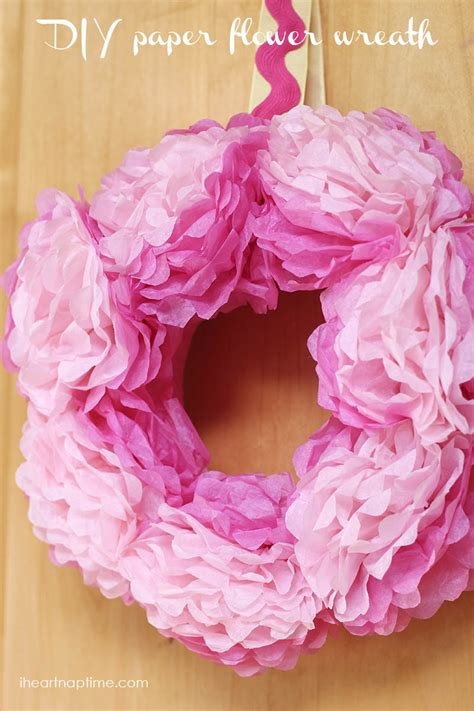 How To Make A Tissue Paper Wreath - how to make tissue paper flowers i nap time