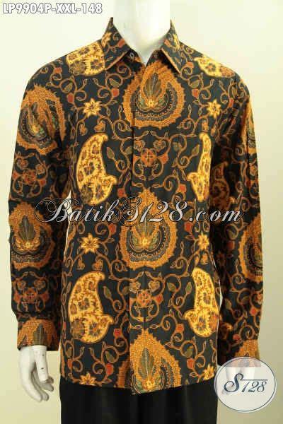 Kemeja Batik Lengan Panjang Bigsize batik hem big size kemeja lengan panjang kwalitas bagus motif klasik printing asli buatan