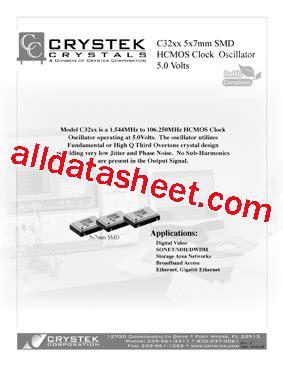 Transistor C3997 c3997 datasheet pdf crystek corporation
