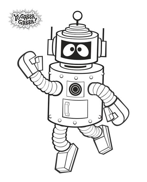 yo gabba gabba coloring pages free coloring home