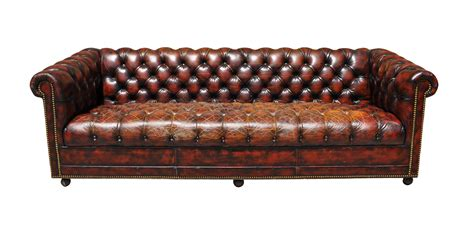 Oxblood Chesterfield Sofa 1940s Original Oxblood Chesterfield Sofa Chairish