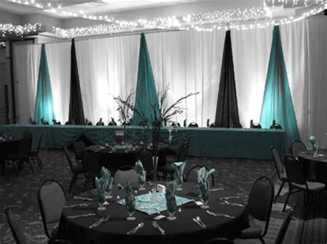 turquoise black and silver party decorations turquoise black wedding reception decoration