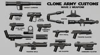 Clone army customs weapons custom lego minifigures