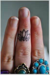 Lotus Fingers 41 Enticing Lotus Flower Tattoos