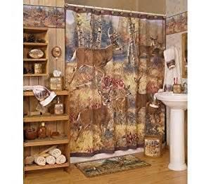 whitetail deer home decor amazon com whitetail deer lodge shower curtain bath home