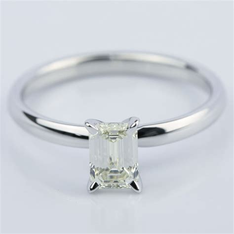 1 Carat Engagement Ring by 1 Carat Emerald Cut Engagement Ring