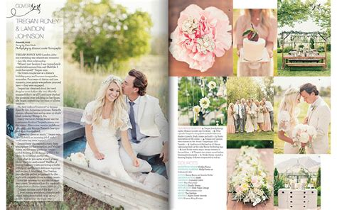 layout wedding magazine utah valley bride magazine feature a romantic bohemian