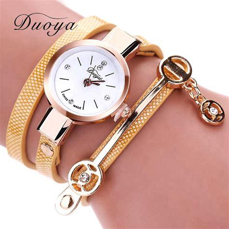 Duoya Jam Tangan Fashion Wanita Dy066 koleksi terbaru jam tangan casual wanita unik dan cantik free ongkir raja indonesia
