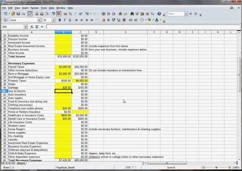 template budget family budget spreadsheet spreadsheet templates for