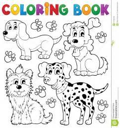 coloring book dog theme 5 royalty free stock photos image 31162448