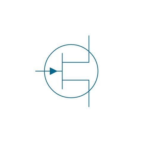 transistor vector electrical symbols transistors design elements