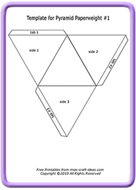 How To Make A Three Sided Pyramid Out Of Paper - make a pyramid paperweight