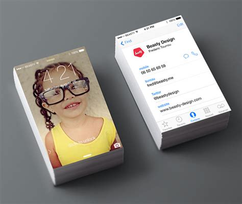 Iphone Contact Business Card Template by 30 Beautiful Exles Of Modern Business Card Designs For