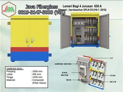 Daftar Box Panel Outdoor box panel outdoor fiberglass anti karat java fiberglass