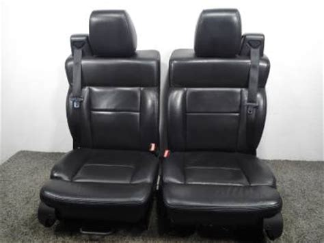oem ford truck replacement seats ford f 150 f150 black leather oem replacement seats fx4