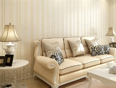 Striped Living Room Wallpaper by Vertical Striped Wallpaper Modern Minimalist Style Living
