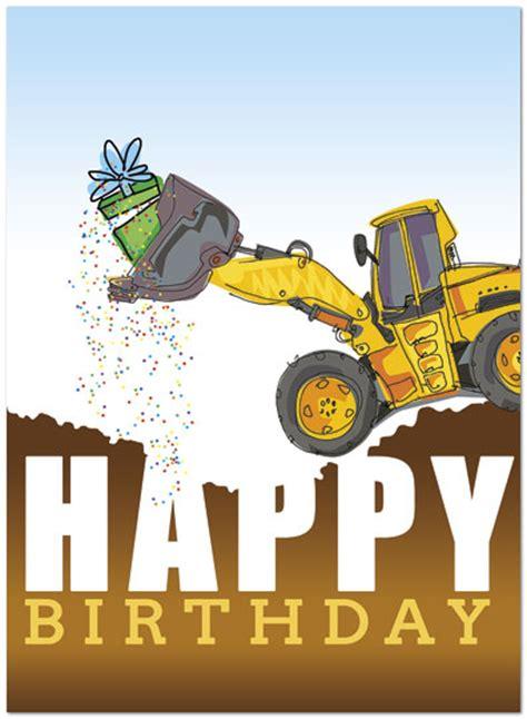 Construction Birthday Card