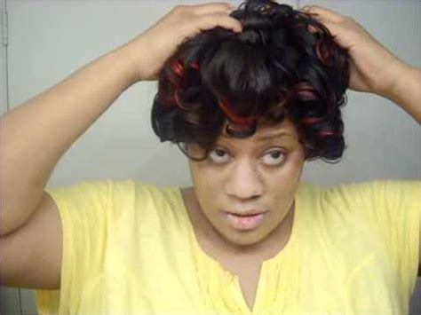 how to roller wrap short hair how to roller wrap your hair youtube