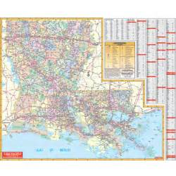 map of and louisiana with cities louisiana wall map keith map service inc