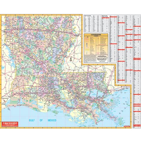 louisiana map cities towns louisiana wall map keith map service inc