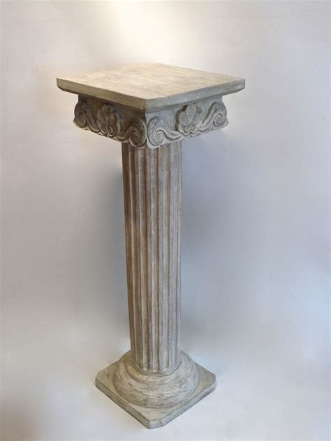 Decorative Wood Columns by A Painted Carved Decorative Wooden Column Stock