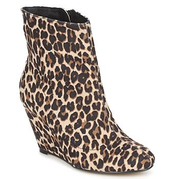 ravel hype leopard print wedge ankle boots gt shoeperwoman