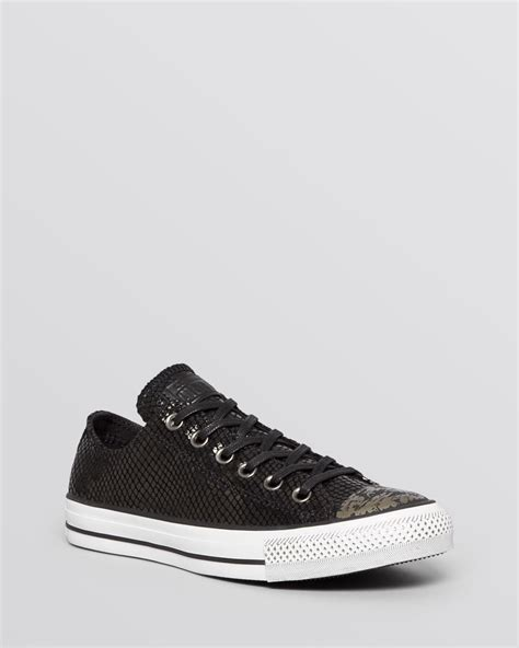 best tennis shoes for flat 2014 lyst converse flat lace up sneakers low top metallic