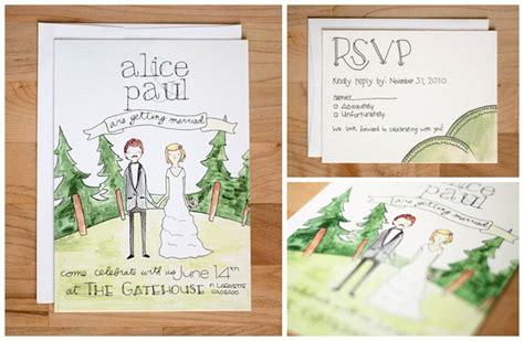 Hochzeitseinladung Zeichnung by Whimsical Wedding Invitations Our Small