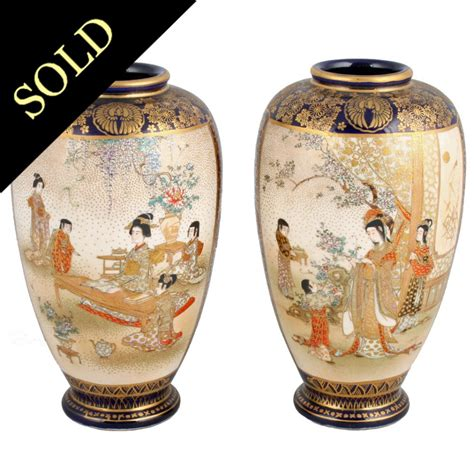 vaso satsuma satsuma pottery vases antique japanese vases antique