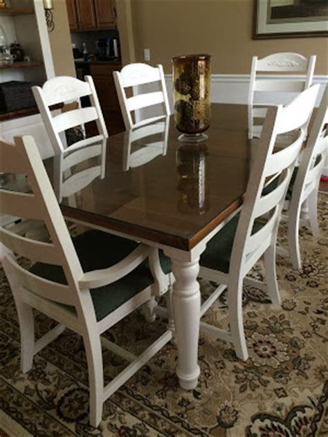 Broyhill Farmhouse Dining Table Diy Midwest Home Renovation Rustoleum Painter S Touch Heirloom White Re Finished Broyhill
