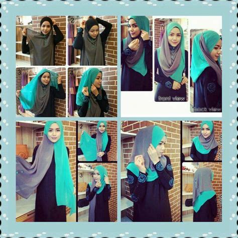 tutorial hijab vemale button shawl hijab tutorial jilbab pinterest
